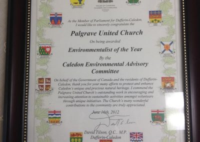 Environmentalist of the Year Award 2012, David Tilson, MP