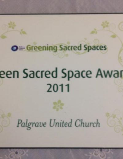 Green Sacred Space Award 2011