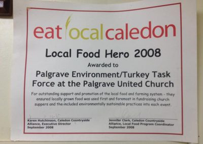 Local Food Hero 2008 Certificate